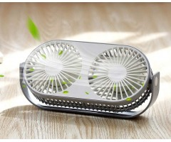 Summer Aromatherapy Twin Turbo Rechargeable Fan