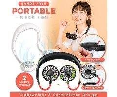 Summer Portable Hands Free USB Rechargeable Fan
